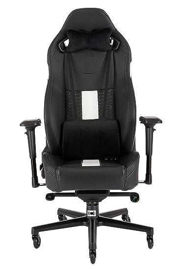 Enjoyable Corsair Cf 9010007 Ww T2 Road Warrior Gaming Chair Comfort Design Black White Camellatalisay Diy Chair Ideas Camellatalisaycom
