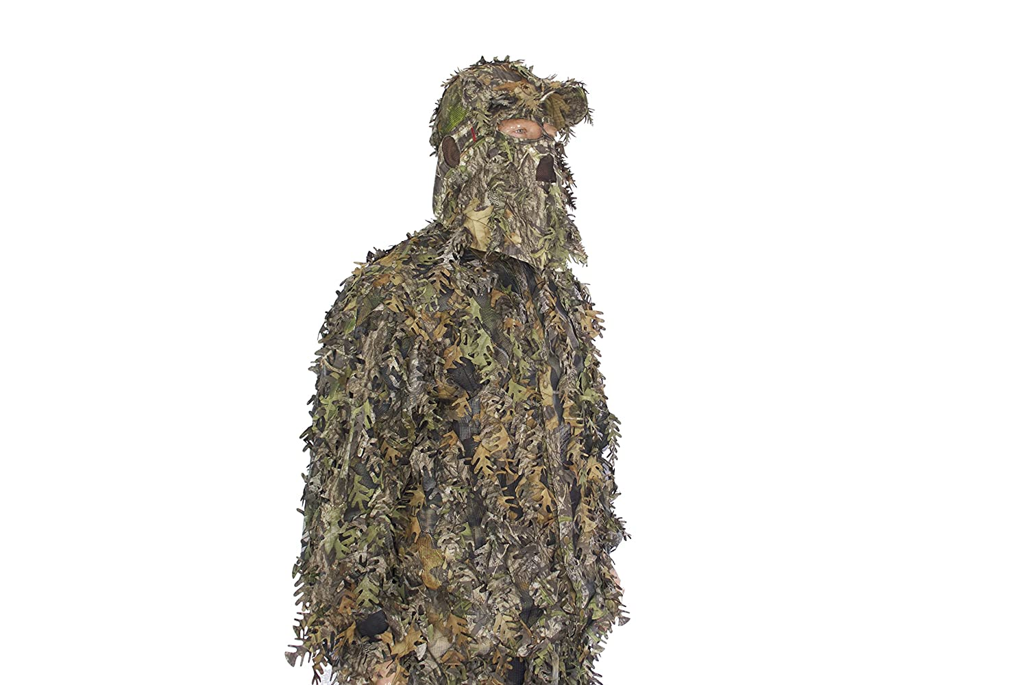 Mossy Oak Obsession b-3d LeafyメッシュGhillie Suit with帽子とマスクコンボ含ま B07767XCT1 Large/XL