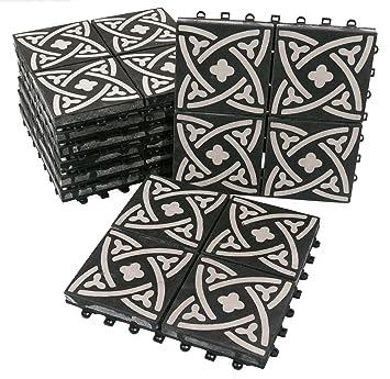 Bodenmax Zement Mosaik Click Bodenfliesen Set 30 X 30 Cm