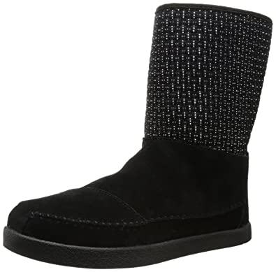 BOBS from Skechers Women's Earthwise Twist and Turn Boot,Black/Black,5 M