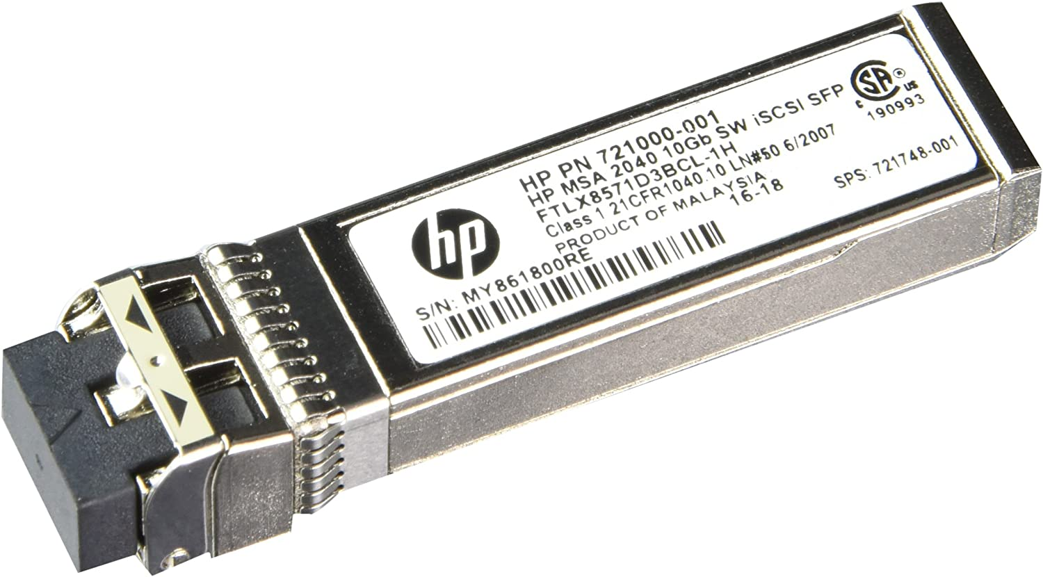 HP MSA 2040 10Gb Short Wave iSCSI SFP+ 4-Pack Transceiver C8R25A