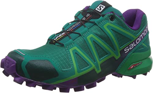 Salomon L38310000, Zapatillas de Trail Running para Mujer, Verde ...