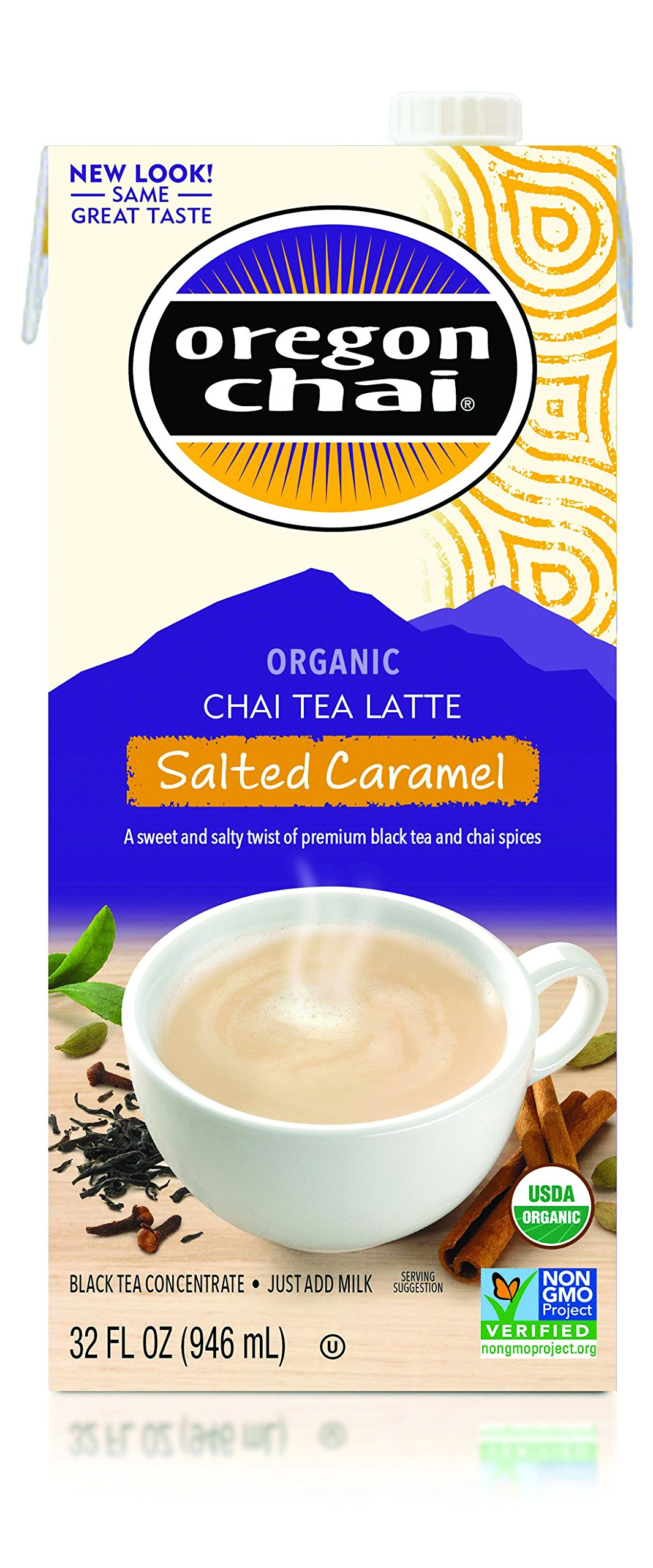 Oregon Chai Salted Caramel Tea Latte, 32 Ounce (Pack of 6)