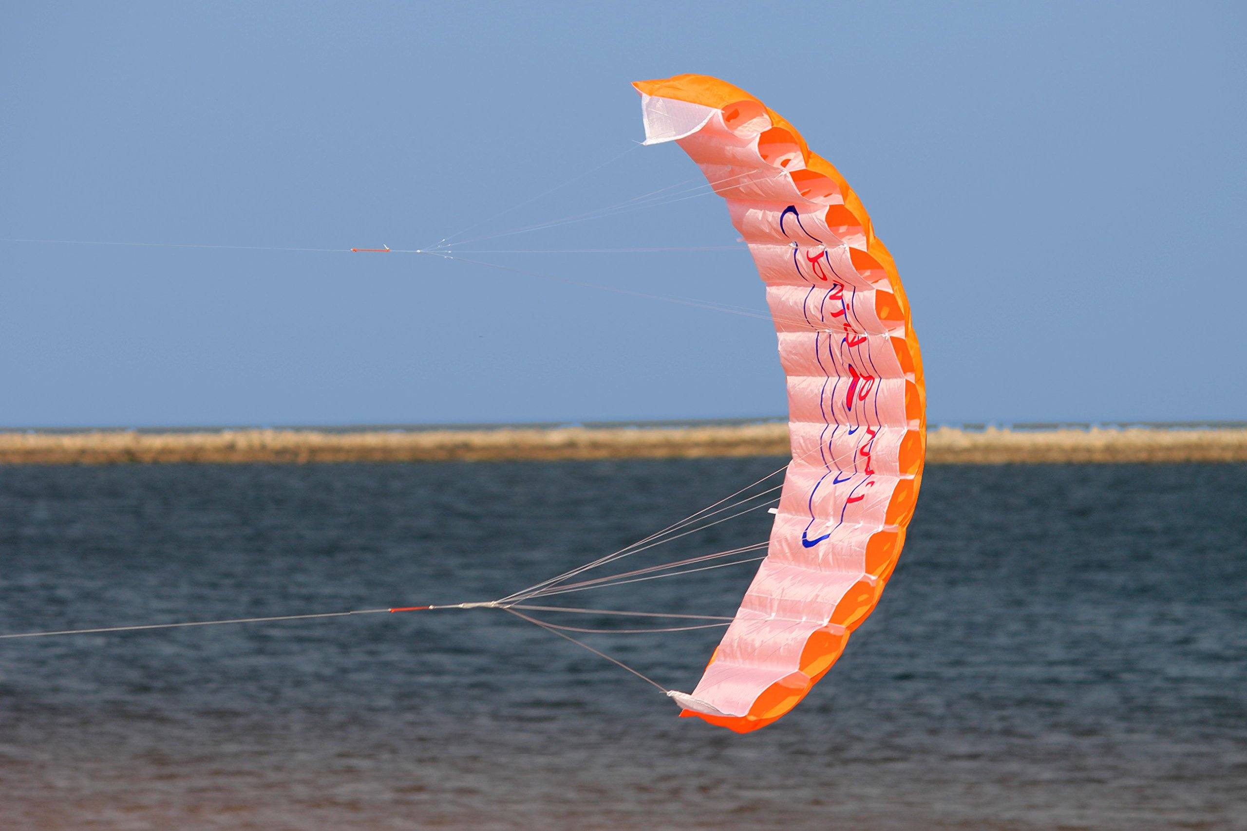 Hengda Kite NEW 1.4m Power Kite Outdoor FUN Toys Parafoil Parachute Dual Line Surfing ORANGE by Hengda kite (Image #2)
