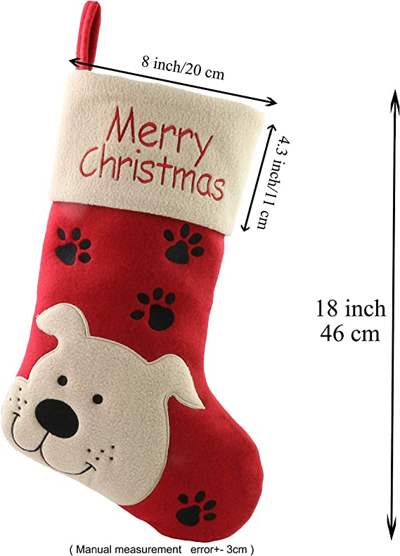 Personalised Embroidered Luxury Pet Cat Christmas Stocking Sack Bag Red Family