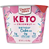 Duncan Hines Keto Friendly Cake Cups Birthday Cake Mix, 2.1 Oz