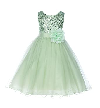 85de905ac34 Amazon.com  ekidsbridal Wedding Glitter Sequin Tulle Flower Girl ...
