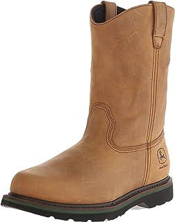 ae5fce7a7c9 Amazon.com   MCRAE Men's Mid Calf Boot, Brown/Brown1, 17 W US   Western