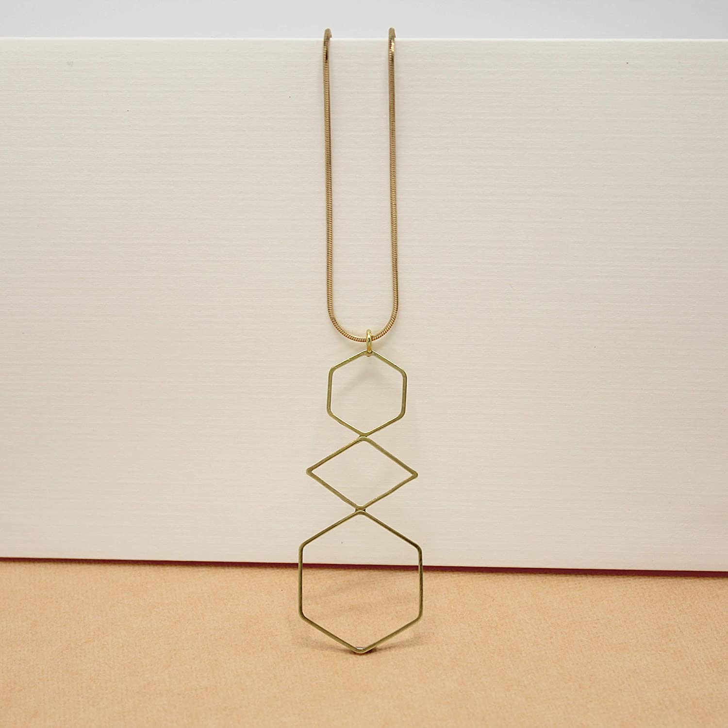 Gold Pendant Chain Necklace Handmade Minimalist Jewelry Gifts for Women Girls MASHALLAH Simple Dainty Delicate Geometric Necklace