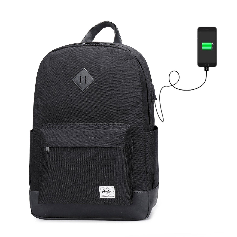Abshoo Classic Multipurpose School Bookbag Casual Daypacks Waterproof Travel Backpack (Black)