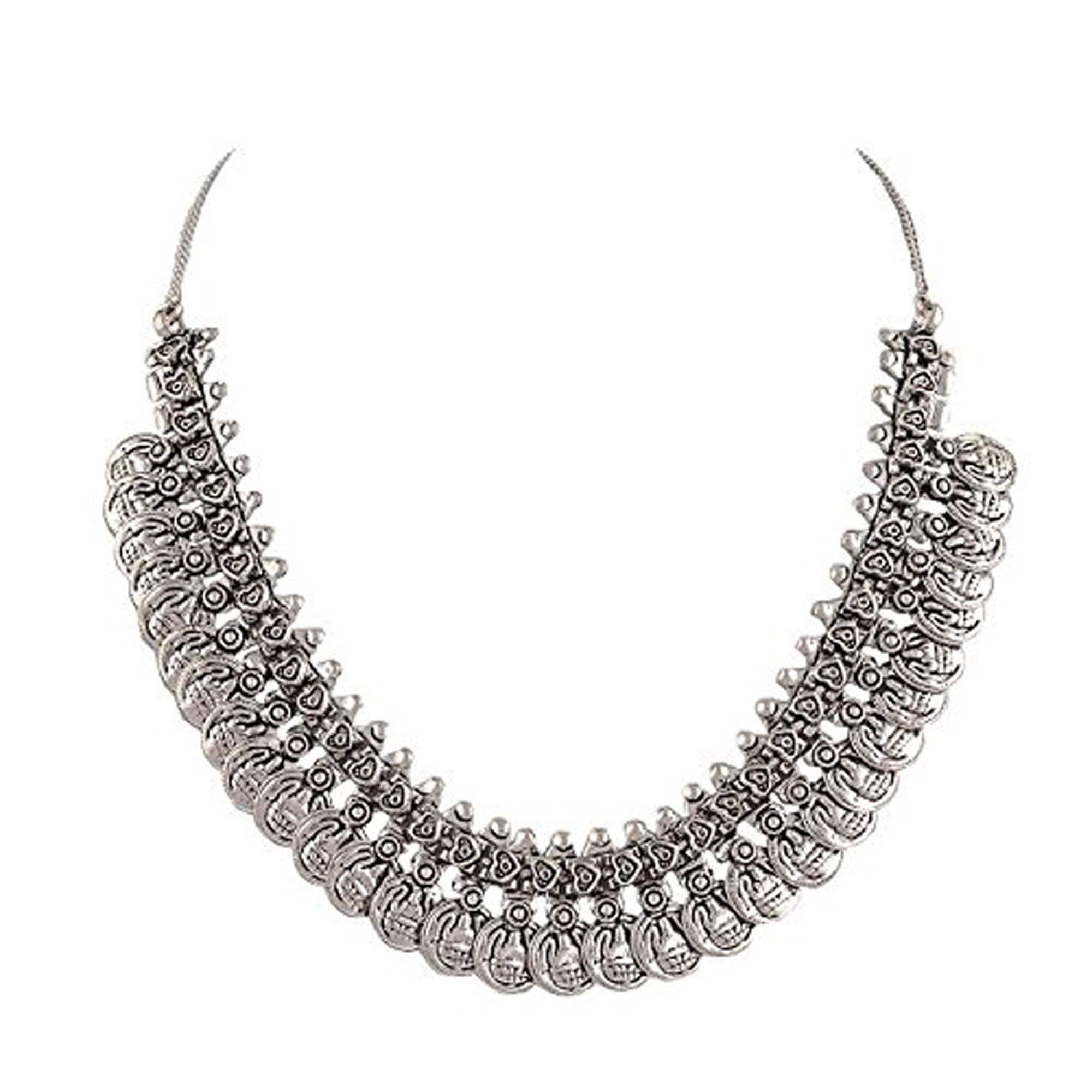Sansar India Chain for Women (Silver) (613)