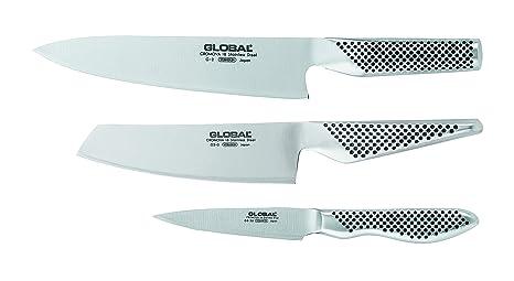 Amazon.com: Global g-2538 – 3 piezas Juego de cuchillos con ...