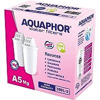 AQUAPHOR A5 Mg Pack 2 con cartucho de filtro de agua de magnesio, color blanco, 350 l