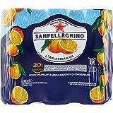 SANPELLEGRINO Bibite Gassate, ARANCIATA - 3 confezioni da 6 pezzi da 330 ml [18 pezzi, 5940 ml]