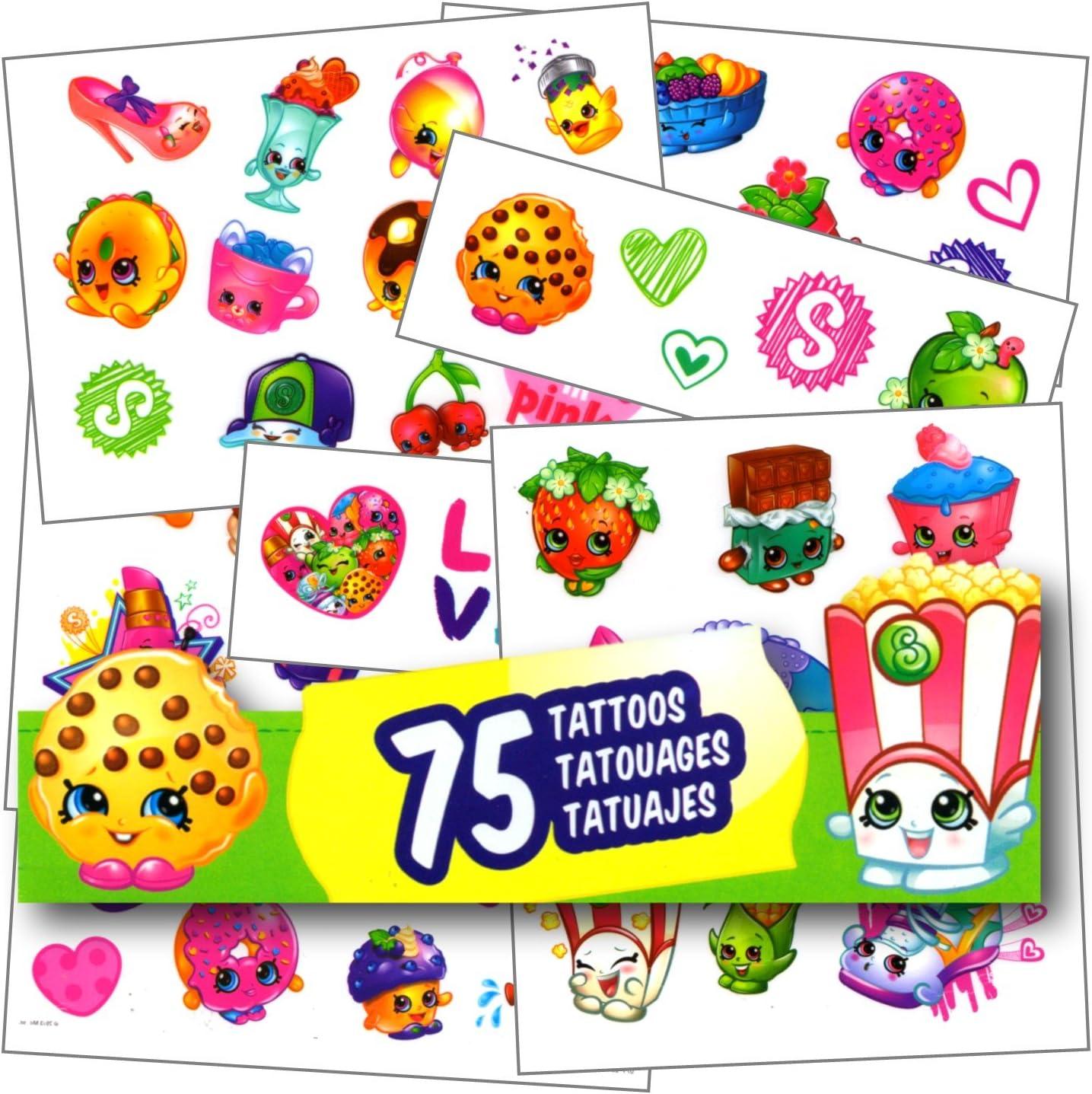 Shopkins Tattoos - 75 Assorted Temporary Tattoos