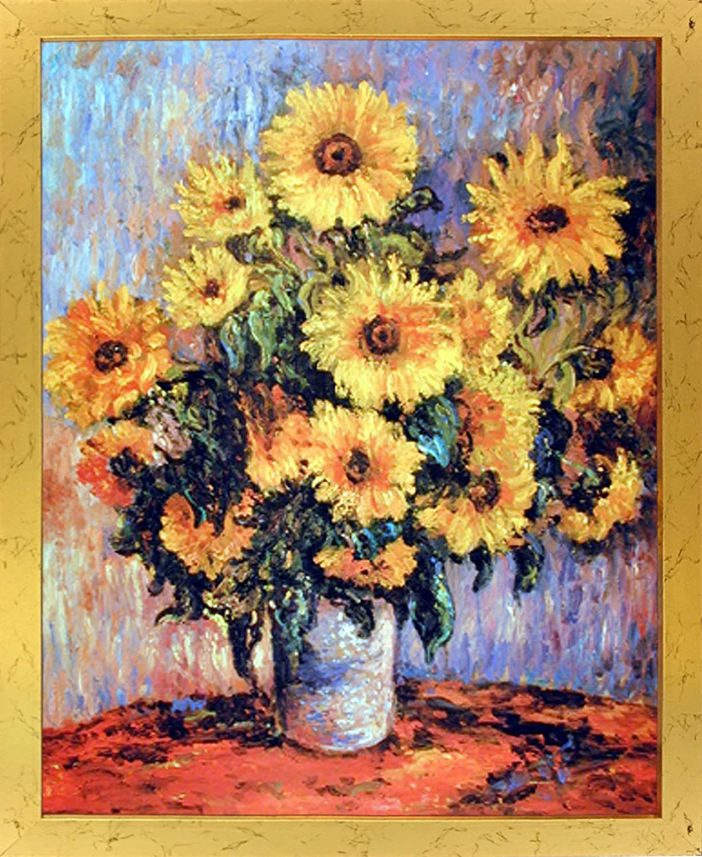 Amazon.com: Claude Monet Sunflowers Wall Decor Art Print Poster ...