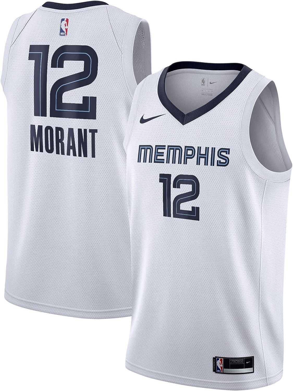 Nike Ja Morant Memphis Grizzlies NBA Boys Youth 8-20 White Association Edition Swingman Jersey