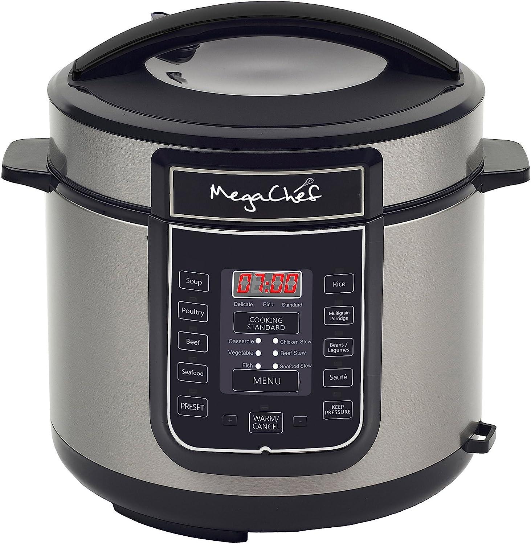 MegaChef Digital Pressure Cooker, Silver