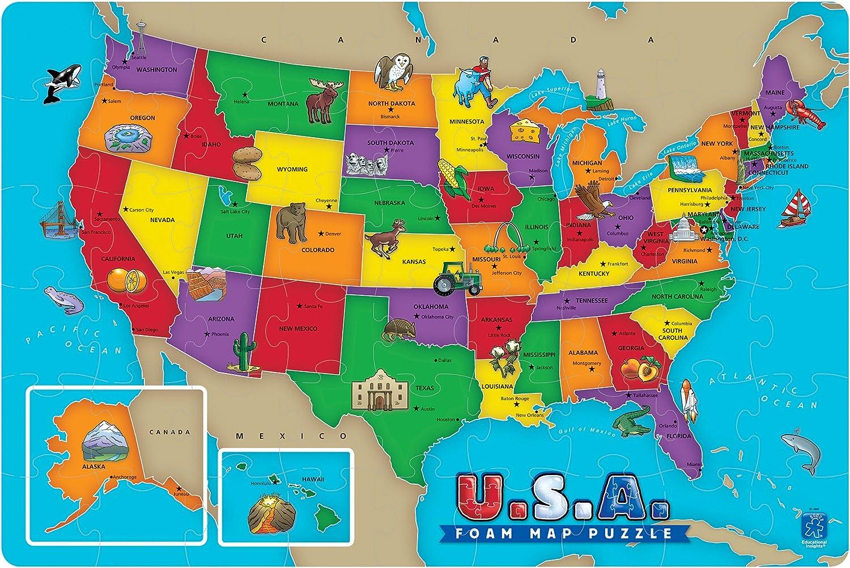 USA FOAM MAP PUZZLE: Amazon.es: Juguetes y juegos
