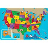 Amazoncom Educational Insights World Foam Map Puzzle Toys Games - Us map puzzle for toddlers