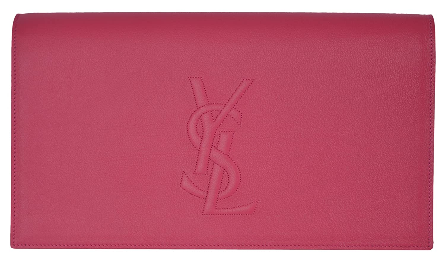 Yves Saint Laurent YSL Pink Leather Large Belle de Jour Clutch