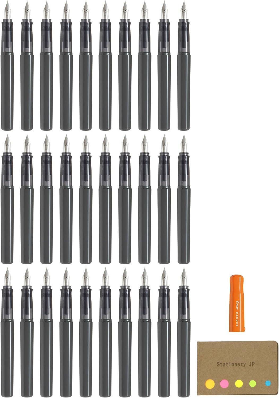 パイロットKakuno万年筆、細かいペン先、オレンジボディ、30-pack、付箋値設定