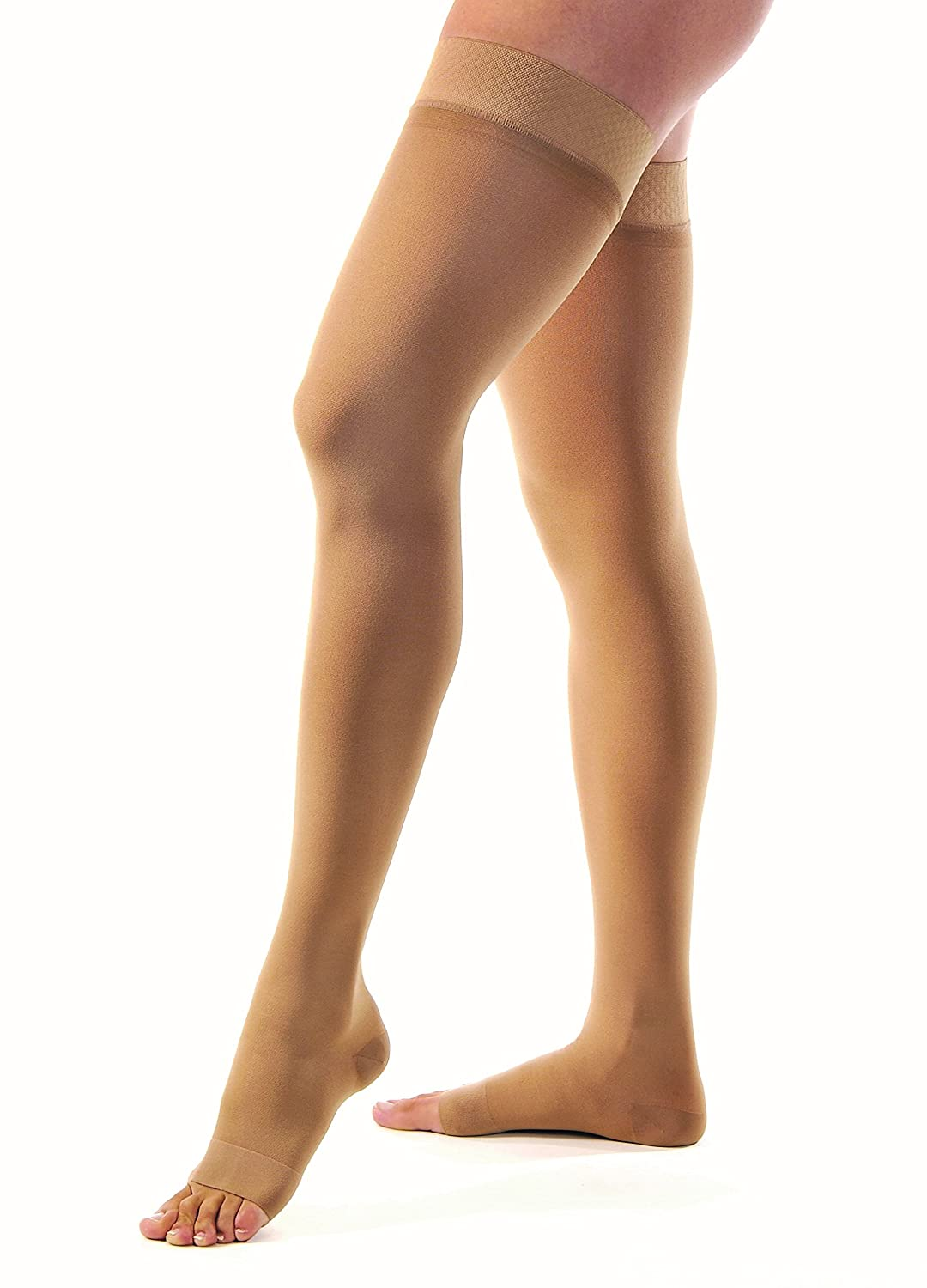 233425dce2 Amazon.com: JOBST Relief 30-40 mmHg Compression Stockings, Thigh High with  Silicone Band, Open Toe, Beige, Medium: Health & Personal Care