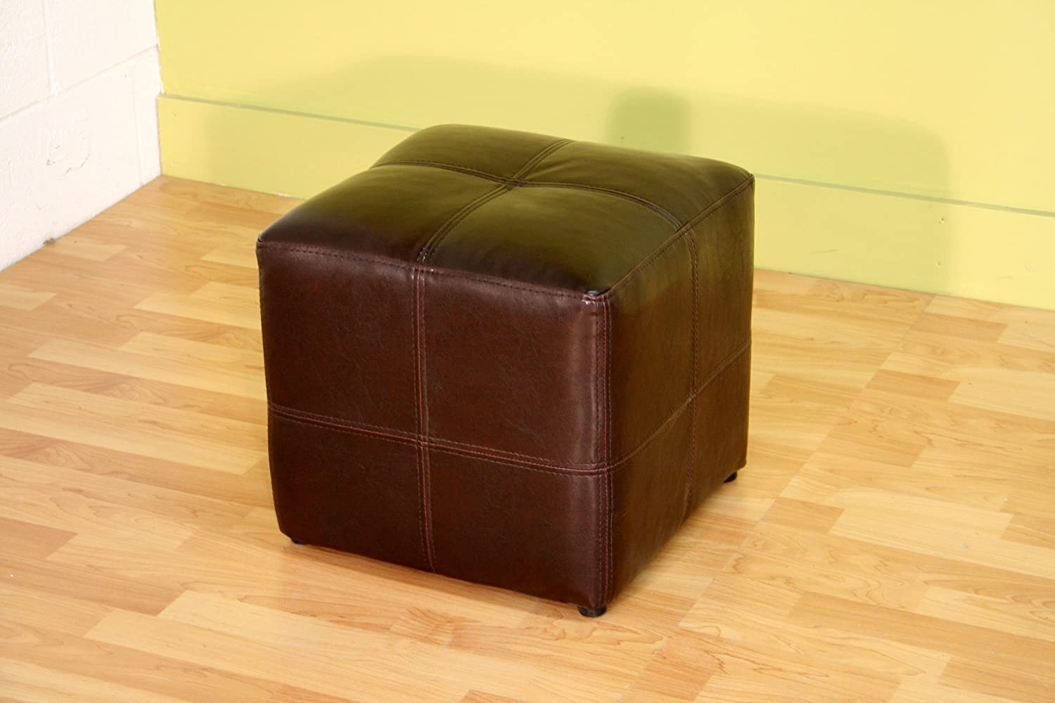 amazoncom baxton studio nox brown leather ottoman kitchen  dining -