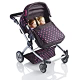 Molly Dolly Babyboo Deluxe Twin 2 in 1 Doll Stroller/Pram