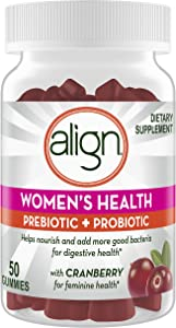 Align Women's Prebiotic + Probiotic Supplement Gummies, with Cranberry for Feminine Health, #1 Doctor Recommended Brand50 Ct