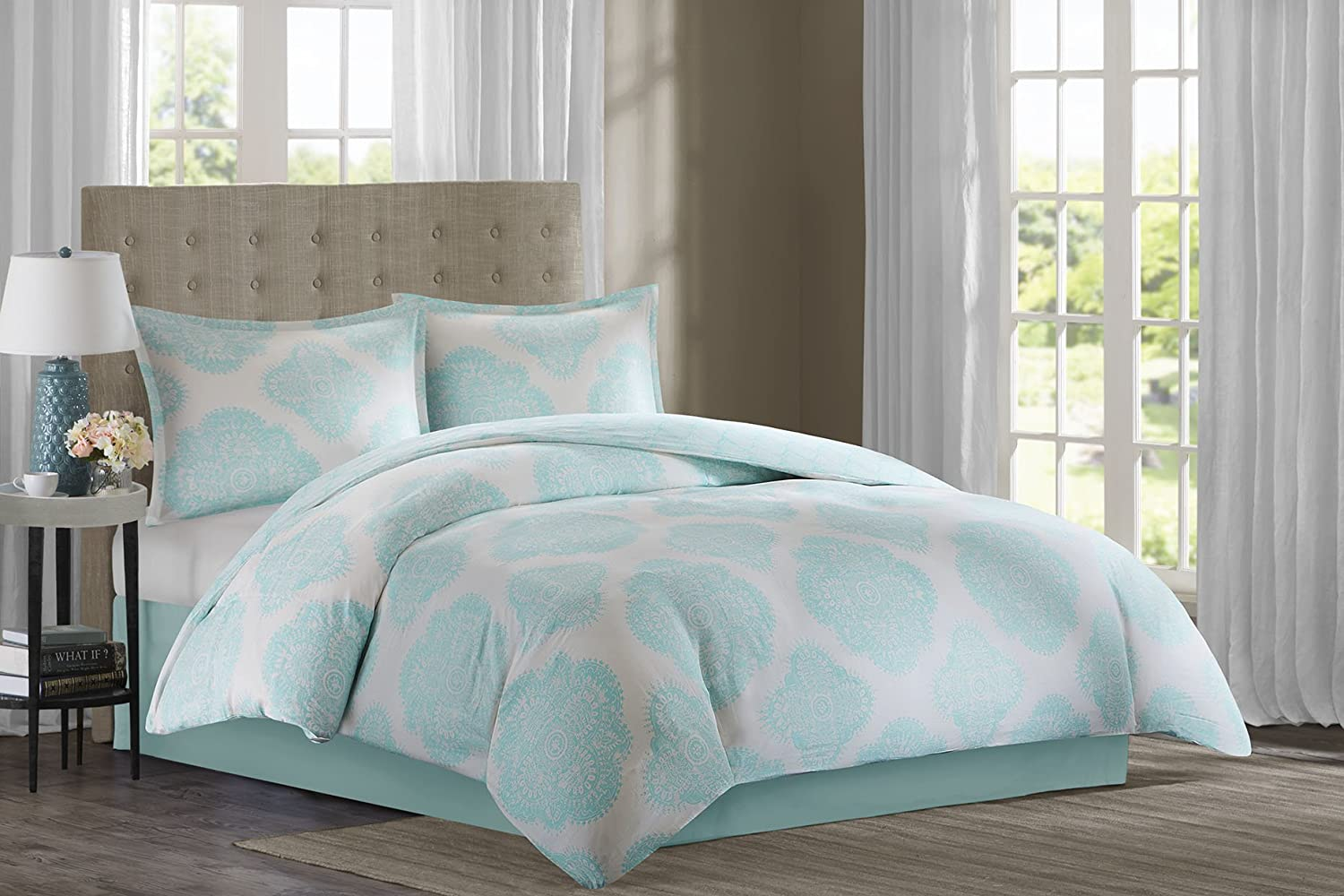 Echo Design Bindi Comforter Set, King, Aqua