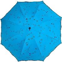 Sombrilla Paraguas Damas Sombrillas Triple Plegables Verano Prueba de Sol Paraguas Protección UV Begonia Sombrilla…