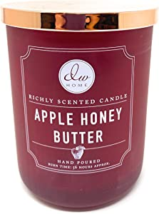 DW Home Decoware Apple Honey Butter Scented 2-Wick Large Candle with Copper Lid