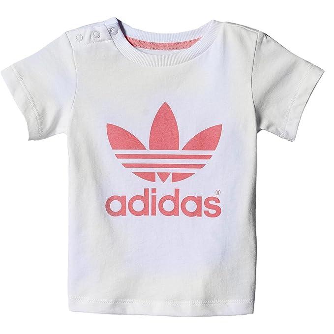 adidas Originals Adicolor Baby Trefoil Tee Niños Tiempo Libre - Camiseta Blanco Rosa Blanco: Amazon.es: Ropa y accesorios