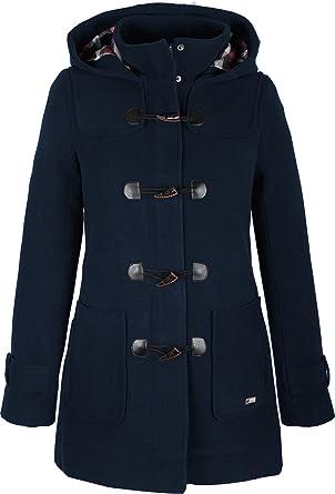 Damen Kurz Mantel,ZEZKT Trenchcoat mit Wasserfall Schnitt