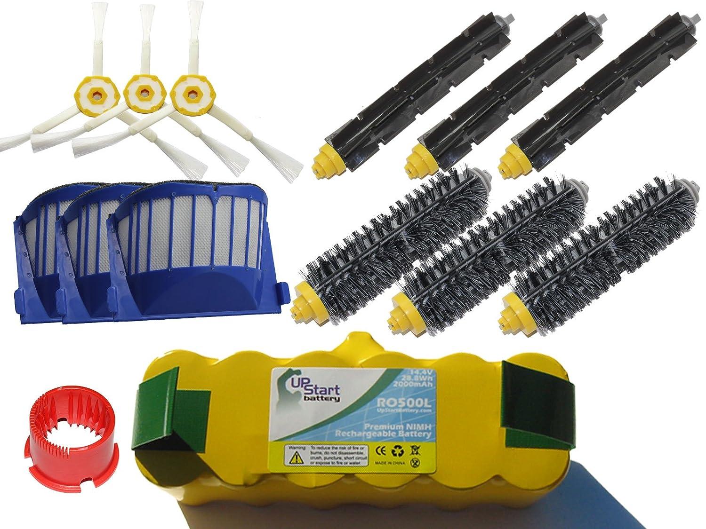 【オープニングセール】 交換用iRobot Roomba 595 Pet Seriesバッテリー、フィルター 595 –、Bristleブラシ、フレキシブルブラシ 交換用iRobot、3-armサイドブラシとブラシクリーニングツール – キット内容1バッテリー、3 AeroVacフィルター、3 Bristleブラシ、3柔軟なBeaterビーターブラシ、3 3-armサイドブラシと1ブラシクリーニングツール B00I7KSDBS, 太田町:e466b851 --- mvd.ee