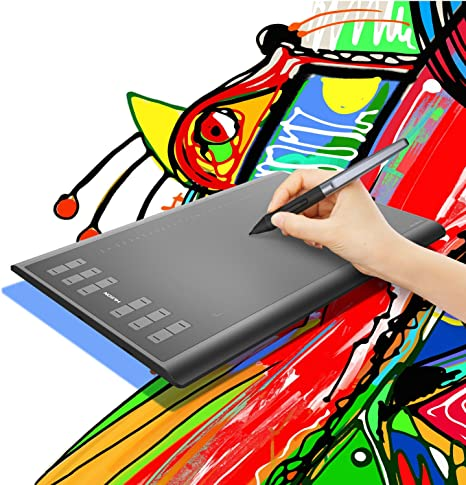 Huion H640P Graphics Drawing Paint Tablet Battery-free Stylus 8192 Pen Pressure