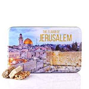Israeli Nut Bars, Jerusalem, Holy Land Gift Tin Box (8,8 Oz)