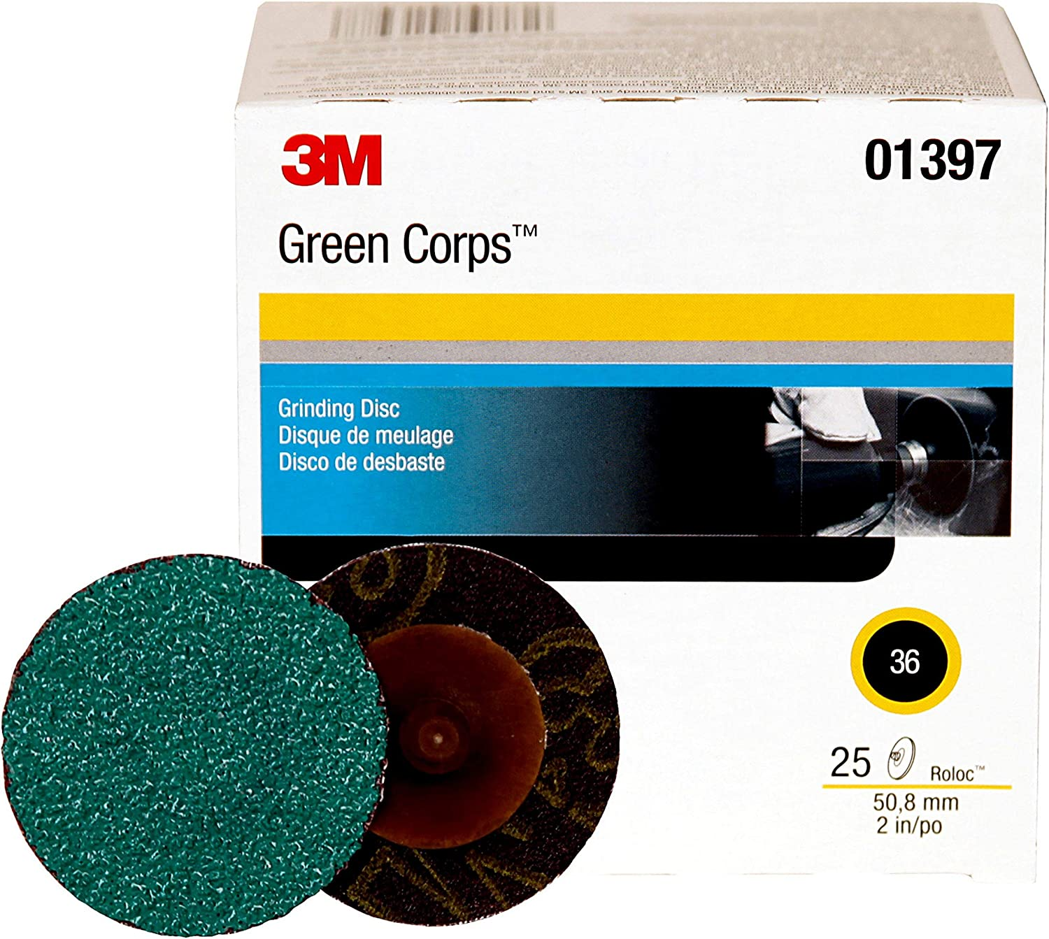 3M 01397 Green Corps Roloc Green Disc