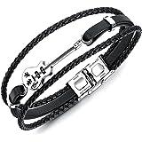 University Trendz PU Leather Bracelet for Mens & Boys
