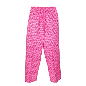 Boxercraft Flannel Pants with Side Pockets, XL, Pink Awareness