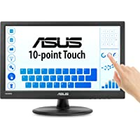 "Asus VT168H 15.6"" 1366x768 HDMI VGA 10-point Touch Eye Care Monitor, 15.6-inch"