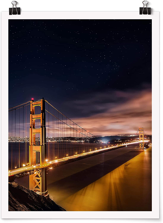 Brillant 40 x 30cm Poster Impression en Galerie Golden Gate to Stars