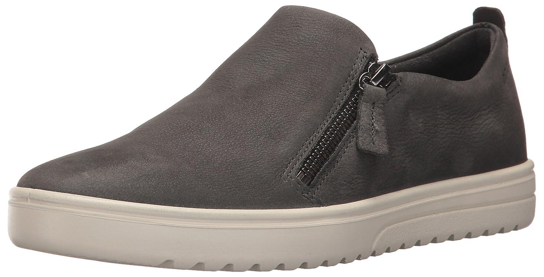 ECCO Women's Women's Fara Zip Fashion Sneaker B01N26YY7E 41 EU / 10-10.5 US|Dark Shadow Nubuck