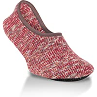 World's Softest Women's Weekend Collection Ragg Knit Ankle Slipper Size Large (Winter)