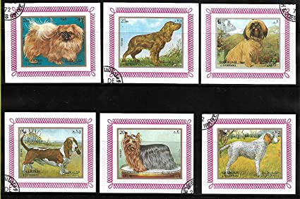 Sharjah Stamps ~ UAE Middle East ~ Animal ~ Dogs ~ 6