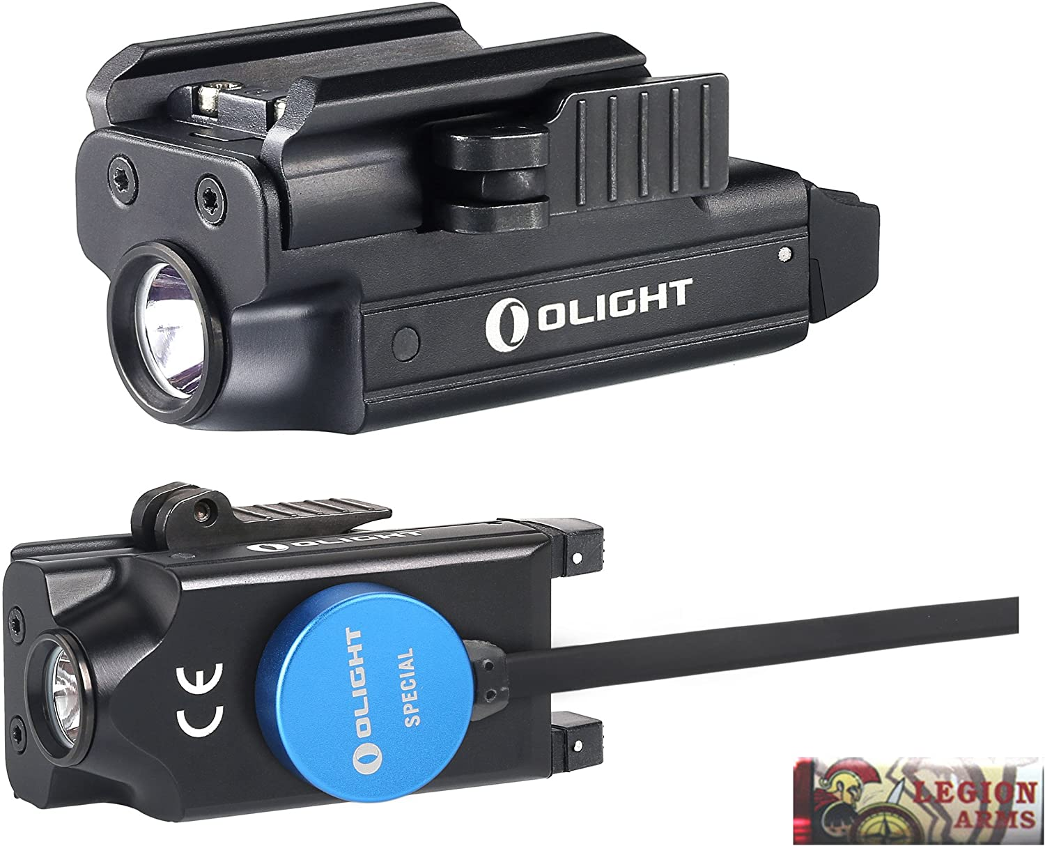 OLIGHT PL-Mini Valkyrie 400 Lumen LED Rechargeable Compact Pistol Light, Build-in Lithium Battery, Charging Cable, Quick Release Mount for GL, s&w, Springfield, sig sauer, etc w/LegionArms Sticker
