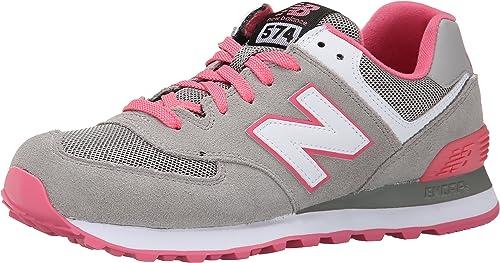new balance gris y rosa