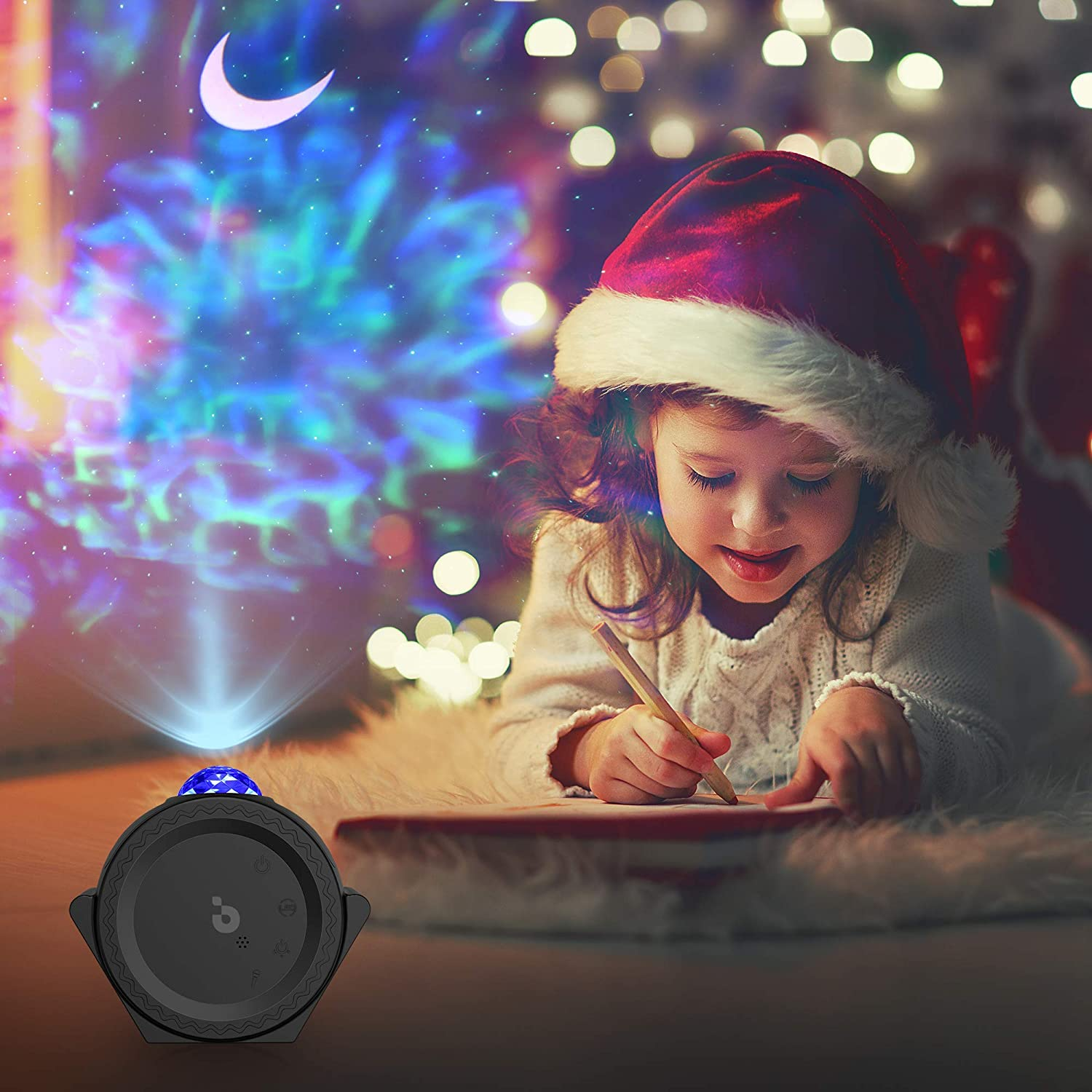 Star Projector 3-1 Ocean Wave Projector Star Sky Night Light w//LED Nebula Cloud Touch/&Voice Control Christmas Projector Light for Bedroom//Game Rooms//Home Theatre//Room Decor//Night Light Ambiance