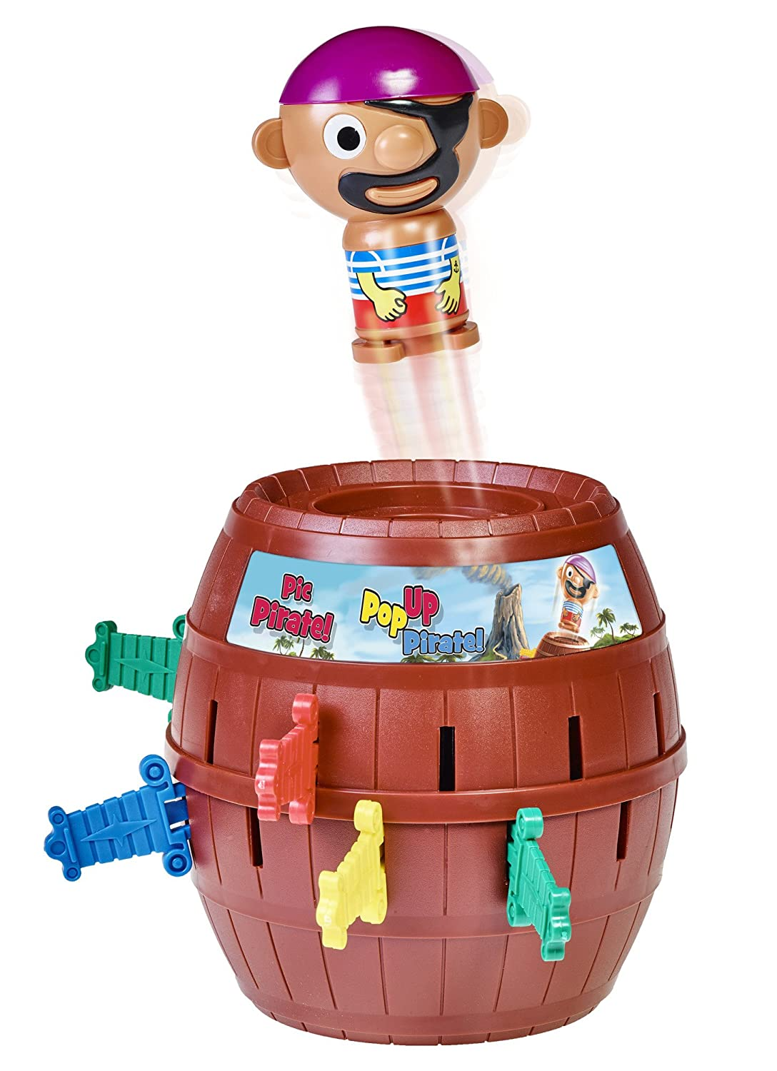 image of the Pop-up Pirate toy in red color for boys